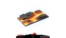Thor Miniatures Bases Lava 60x100 #2